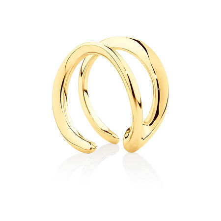 Mark Hill Cuff Earrings in 10kt Yellow Gold
