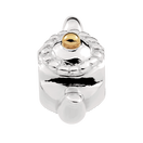 10kt Yellow Gold & Sterling Silver Teapot Charm