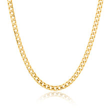 "Men's 55cm (22"") Solid Curb Chain in 10kt Yellow Gold"