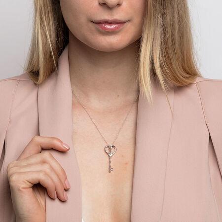 Infinitas Key Pendant in Sterling Silver
