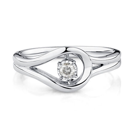 Everlight Ring with 1/15 Carat TW of Diamonds in Sterling Silver