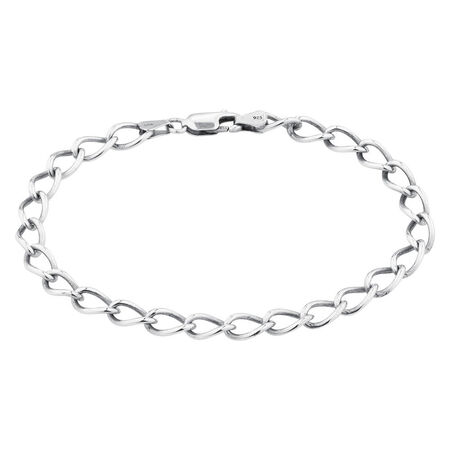Online Exclusive - Curb Bracelet In Sterling Silver