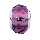 Purple Faceted Crystal Charm