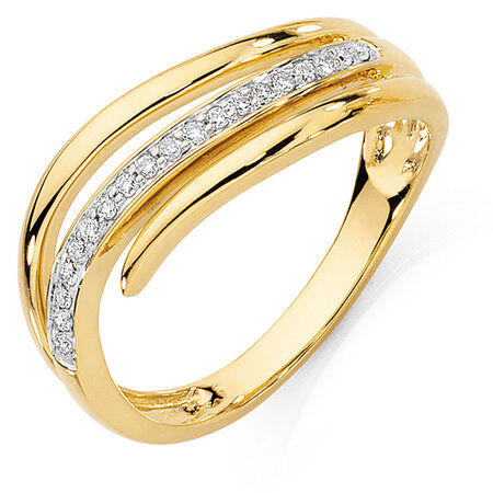 Ring with 1/10 Carat TW of Diamonds in 10kt Yellow Gold
