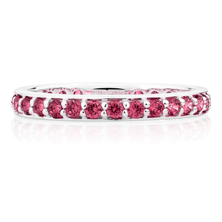 Burgundy Cubic Zirconia Stack Ring