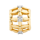 Diamond Set & 10kt Yellow Gold Cage Charm