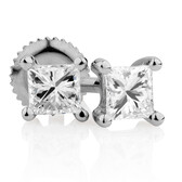 Certified Stud Earrings with 1/3 Carat TW of Diamonds in 14kt White Gold