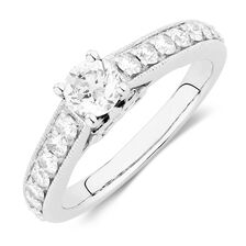 Online Exclusive - Engagement Ring with 1 Carat TW of Diamonds in 14kt White Gold