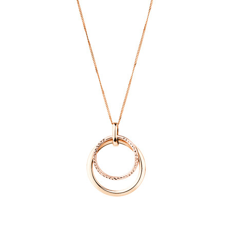 Double Circle Pendant in 10kt Rose Gold