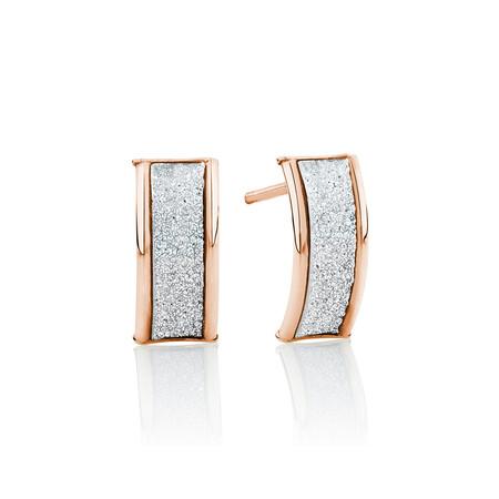 Glitter Stud Earrings in 10kt Rose Gold