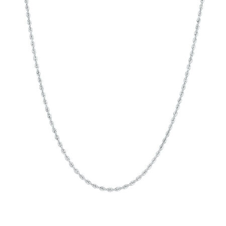 """45cm (18"""") Rope Chain in 10kt White Gold"""