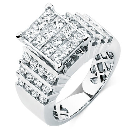Online Exclusive - Engagement Ring with 1.95 Carat TW of Diamonds in 14kt White Gold