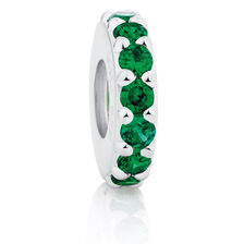 Green Cubic Zirconia Spacer