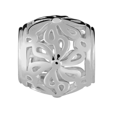 Sterling Silver Filigree Flower Charm