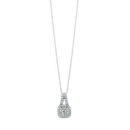 Michael Hill Designer Arpeggio Pendant with 1/2 Carat TW of Diamonds in 14kt White & Rose Gold