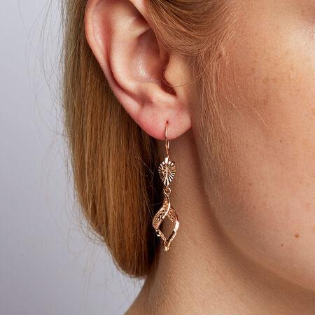 Drop Earrings in 10kt Rose Gold