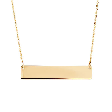 Bar Necklace in 10kt Yellow Gold