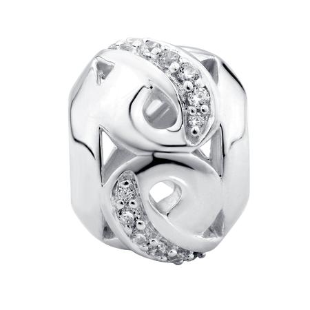 Cubic Zirconia Infinity Pattern Charm