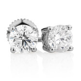 Classic Stud Earrings with 1 Carat TW of Diamonds in 14kt White Gold