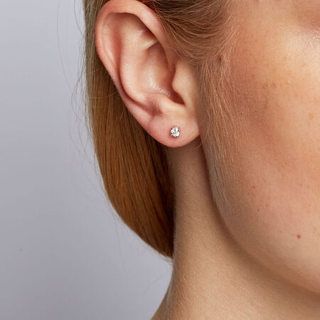 Classic Stud Earrings with 1/4 Carat TW of Diamonds in 10kt White Gold