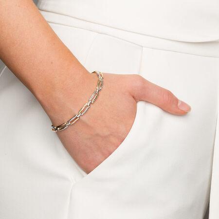 """19cm (7.5"""") Bracelet in 10kt Yellow, White & Rose Gold"""