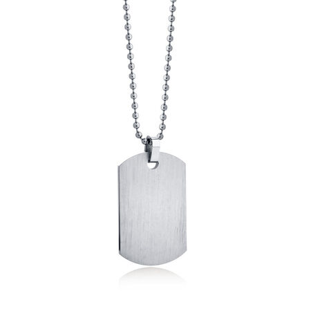 Men's Dog Tag Pendant in Stainless Steel