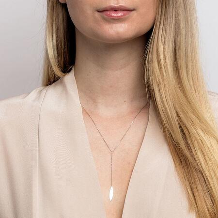 Teardrop Necklace in Sterling Silver