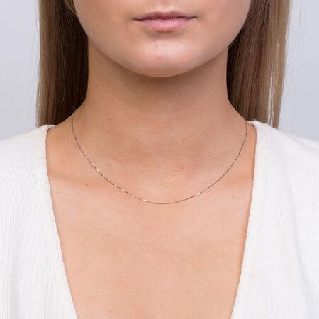 "40cm (16"") Box Chain in 14kt White Gold"