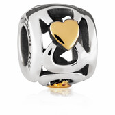 10kt Yellow Gold & Sterling Silver Charm