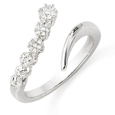 Ring with 1/8 Carat TW of Diamonds in 10kt White Gold