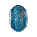 Blue & Green Sparkle Murano Glass Charm