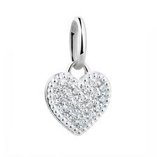 Cubic Zirconia & Sterling Silver Heart Mini Pendant