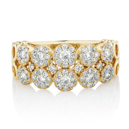 Ring with 3/4 Carat TW of Diamonds in 10kt Yellow Gold