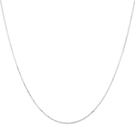 "40cm (16"") Box Chain in 10kt White Gold"