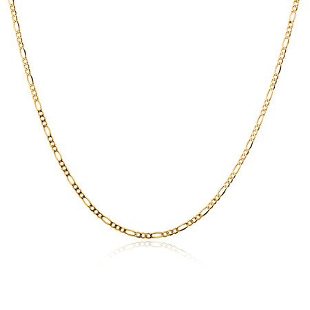"60cm (24"") Hollow Figaro Chain in 10kt Yellow Gold"