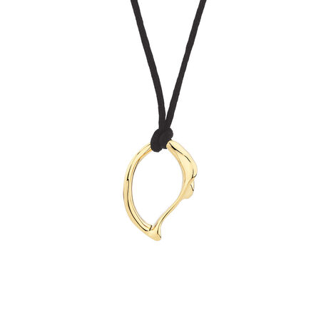 Small Spirits Bay Solid Pendant in 10kt Yellow Gold