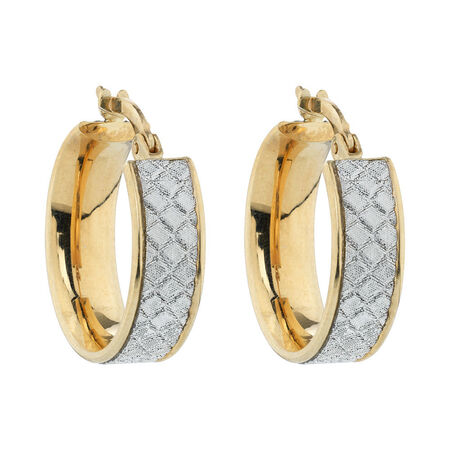 Online Exclusive - Glitter Hoop Earrings in 10kt Yellow Gold