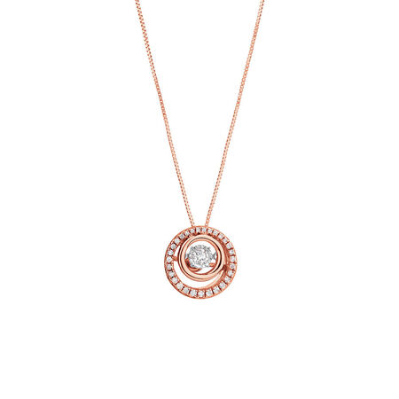 Everlight Pendant with 1/5 Carat TW of Diamonds in 10kt Rose Gold