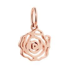 10kt Rose Gold Rose Mini Pendant
