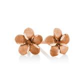 Flower Stud Earrings in 10kt Rose Gold