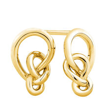 Knots Earrings in 10kt Yellow Gold