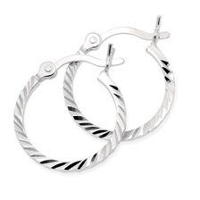 Hoop Earrings in Sterling Silver