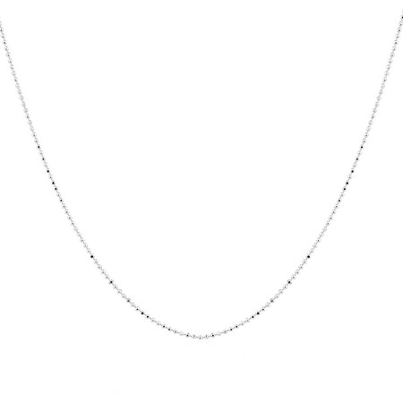 """50cm (20"""") Ball Chain in Sterling Silver"""