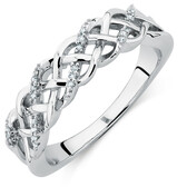 Ring with 1/20 Carat TW of Diamonds in Sterling Silver