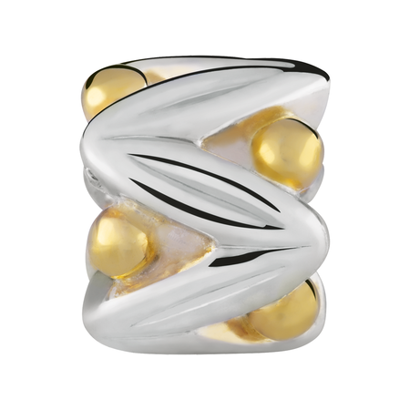 10kt Yellow Gold & Sterling Silver Fancy Charm