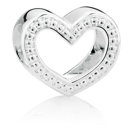 Sterling Silver Heart Wild Hearts Charm