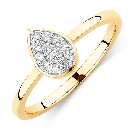 Promise Ring with 1/10 Carat TW of Diamonds in 10kt Yellow Gold