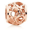 10kt Rose Gold Heart Filigree Charm