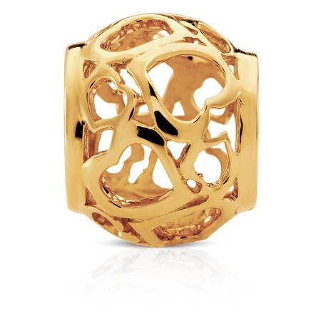 10kt Yellow Gold Heart Charm
