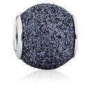 Gray Glitter Enamel Charm